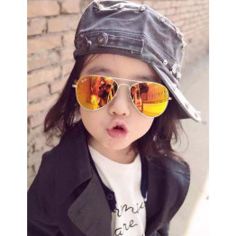 IVE brand designer boys and girls Sunglasses alloy metal Frame  UV400 Anti-Reflectiveg children Sun glasses 3026