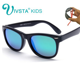 IVSTA Polarized Kids Sunglasses Boys Glasses Children Sunglasses Girls Mirror Coat TR90 Silicone Baby Glasses Wholesale Polaroid