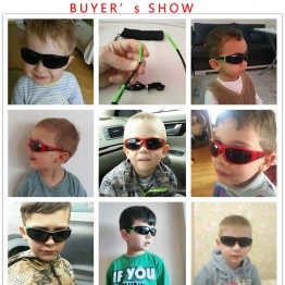 JIANGTUN Super Light Kids TR90 Polarized Sunglasses Children Safety Brand Glasses Flexible Rubber Oculos Infantil