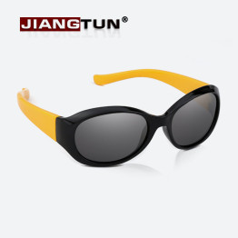 JIANGTUN Top Quality Baby Boys Girls Fashion Brand Kids Sunglasses Fit 3-12 Year TR90 Polarized Children Glasses Fashion Oculos