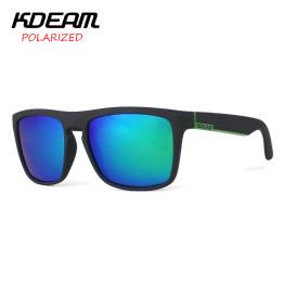KDEAM Polarized Sunglasses Men Sport Eyewear Brand Designer Driving Oculos De Sol Reflective Coating UV400 With Case KD156