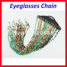 KMD002  Colorful Beaded Pearl Sunglass Reading Glasses Eyeglass Chain Cord Rope Holder