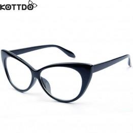 KOTTDO Fashion Optical Computer Eyeglasses Cat Eye Brand Designer Glasses Frame For Men Women Vintage Eyewear Oculos De Grau