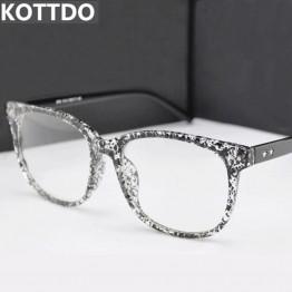 KOTTDO Fashion Square Eyeglasses Retro Men Women Designer Eye glasses Male Female Optical Eye Glasses Frame Eyewear UV400