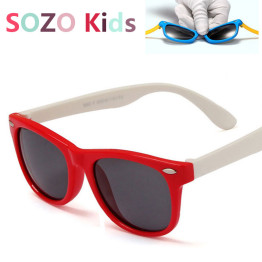 Kids Rivet Classic TAC Polarized Sunglasses TR90 Flexible Safety Frame Boy Girl Brand Design Fashion Eyewear Children Shades