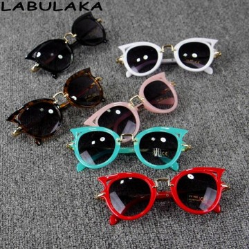 LABULAKA 2017 Baby Kids Sunglasses Girls Brand Cat Eye Children Glasses Boys UV400 Lens Cute Eyewear Infant Gafas Shades Goggles