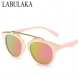 LABULAKA 2017 Summer Vintage Kids Sunglasses Oversized Steampunk Children Sun Glasses Boy Girls Eyewear Gafas Baby Oculos De Sol