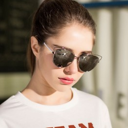 LONSY 2017 New CAT EYE Sunglasses Women Mirror Glasses Metal Lace Frame Designer Sun Glasses Female 5 Colors oculos de sol CJ253