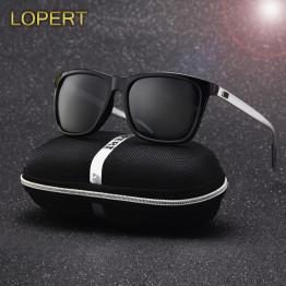 LOPERT Polarized AluminumTR90 Sunglasses Men Brand Designer Driving Glasses Fashion Women Vintage Sun Glasses For Men UV400