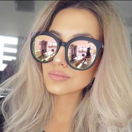MEYOU Round Sunglasses Women 2017 Driving Luxury Brand Designer Sun Glasses Lunette Femme Rose Gold Pink Sunglasses Female UV400