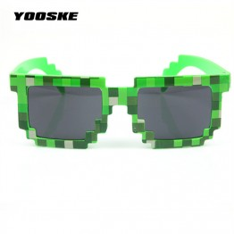 Minecraft Glasses 8 bit Pixel Women Men Sunglasses Female Male Mosaic Sun Glasses kids Boys Girls  Vintage