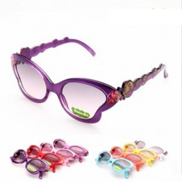 New Fashion Super Cute Kids lunette de soleil Butterfly Eyewear Children Sunglasses For Girls Baby Boys Vintage Cool Goggle