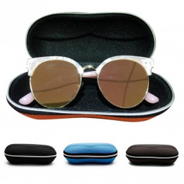 Portable Fiber colorful cover sunglasses case for women glasses box with zipper eyeglass cases Sunglass Shell Protector 4 colors