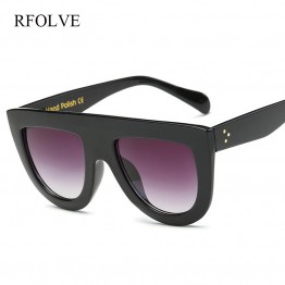 RFOLVE Latest Fashion Sunglasses Women Flat Top Style Brand Design Vintage Sun glasses Female Rivet Shades Shades  R8009