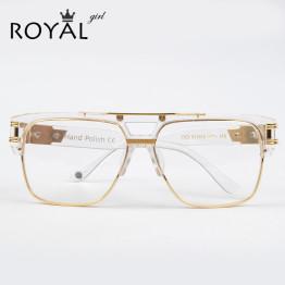 ROYA GIRL Luxury Women Brand Glasses Frame Vintage Oversize Clear Lens Glasses Men Eyeglasses Frames Acetate Spectacles ss098