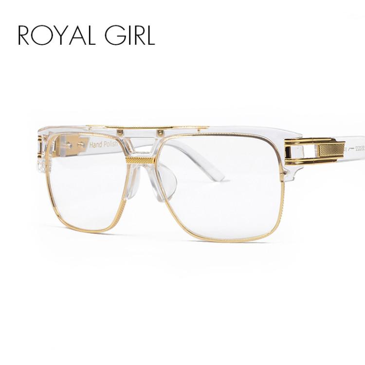 ROYA GIRL Luxury Women Brand Glasses Frame Vintage Oversize Clear ...