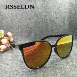 RSSELDN 2017 Newest Fashion Cat Eye Sunglasses Women Luxury Brand Vintage Sun Glasses UV400 oculos de sol gafas de sol hombre