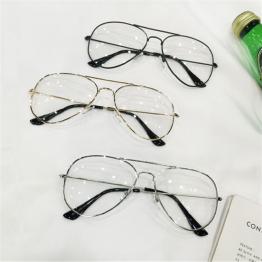 Retro Glasses Frames Men Women Spectacle Glasses Transparent Optical Clear Lenses Alloy Metal Eyeglass Frame Goggles Sunglasses