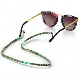 Retro eyeglass sunglasses cotton neck string cord retainer strap eyewear lanyard holder with glasses chain loop 6 colors option