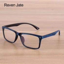 Reven Glasses Men and Women Unisex Wooden Pattern Fashion Retro Optical Spectacle Eyeglasses Glasses Frame Vintage Eyewear
