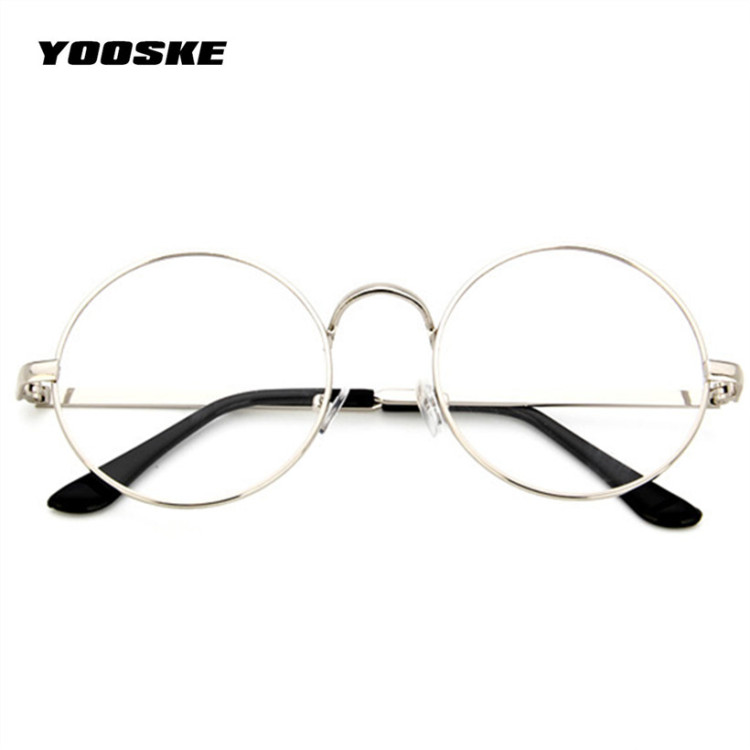 Round Spectacle Glasses Frames Glasses With Clear Glass Women Men ...