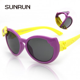 SUNRUN 2016 High Quality Baby Girls Brand Kids Sunglasses TR90 Polarized Children Glasses 100%UV Oculos De Sol Gafas S860