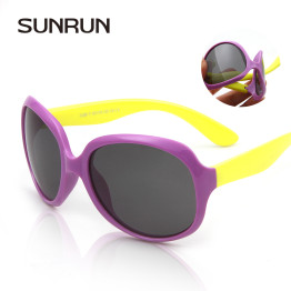 SUNRUN  Children's Brand Polarized Glasses baby sunglasses UV400 boy girls Fashion big box colorful Kids  sun glasses S889