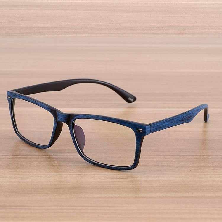 8a0d7a29a00 Square Eyeglasses Frames Clear Lens Optical Frame Wooden Imitation Prescription  Glasses Frame Spectacle Eyewear Frames Women MenGlasses Frames