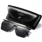 Sunglasses Men Oversize Style Copper Frame Flat Lens Goggles Brand Designer Sun Glasses UV400