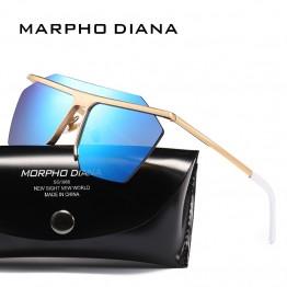 Sunglasses Men Oversize Style Copper Frame Flat Lens Goggles Brand Designer Sun Glasses UV400