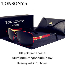 TONSONYA Brand design high definition Polarized men sunglasses Driving Sun Glasses Retro fishing sunglasses oculos de sol shades