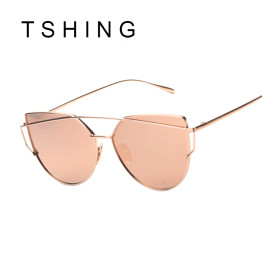 TSHING 2016  Fashion Children Cat Eye Sunglasses Boys Girls Brand Designer Mirror Cateye Sun Glasses Retro Kids Sunglasses UV400