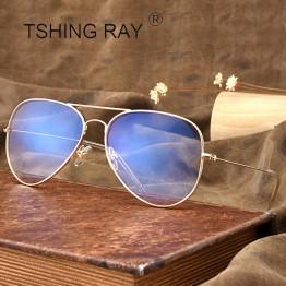 TSHING RAY Fashion Pilot Optical Women Eye Glasses Frame Men Clear Lens Metal Vintage Aviation Eyeglasses For Female Male