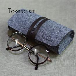 Toketorism Retro Felt bag for glasses Ultralight portable box occhiali da sole Super vintage Sunglasses accessories B3