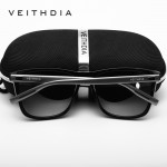 VEITHDIA Unisex Retro Aluminum+TR90 Polarized Mens Sunglasses Brand Designer mirror Vintage Driving Sun Glasses for Women shades