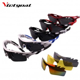 VICTGOAL Polarized Cycling Glasses UV400 Protect Bicycle Men Women Sunglasses Outdoor Sport Running Cycling Eyewear 3 Lens M1301