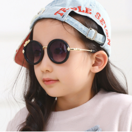 VictoryLip Brand Designer 2016 Kids Round Sunglasses Children Girls Cute Baby UV400 Mirror Kawaii Circle Diamond Sun Glasses