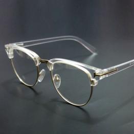 Vintage Metal Semi Rimless Glasses Clear Optical Spectacle Eyeglasses Men Women Brand Eyewear Frames Clear Lens Glasses Frame