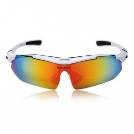 WOLFBIKE Men Cycling Bicycle Road Mountain Bike Outdoor Sports Sun Glasses Eyewear Goggles Sunglasses 5 Lens Polarized