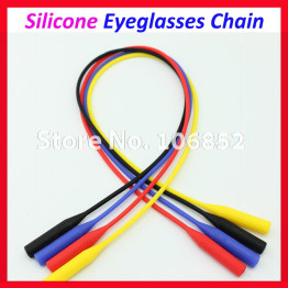 WQ002 5pcs Free Shipping Four Different Colors Silicone elastic Eyewear Sunglasses Glasses Eyeglasses Cord Chain Holder Stripe