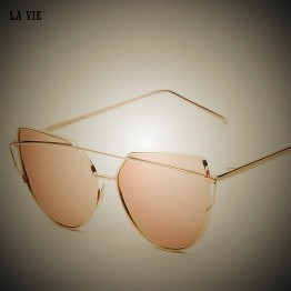 Women Sunglasses Cat Eye 2017 Hot Mirror Rose Italian Designer Vintage Sun Glasses Unique Flat Ladies Sunglasses Gafas Oculos