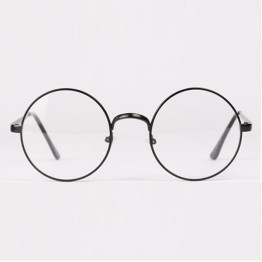 Womens Mens Retro Round Metal Frame Clear Lens Glasses Nerd Spectacles Eyeglass