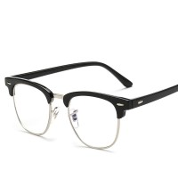 haoyu Men Women Myopia Eyeglasses Japan Vintage Eye half Glasses Frame Fashion Optical Frame Plain Mirror lens Armacao De Oculos