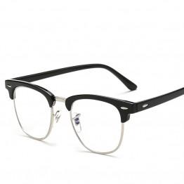 haoyu Men Women Myopia Eyeglasses Japan Vintage Eye half Glasses Frame Fashion Optical Frame Plain Mirror lens Armacao De Oculos