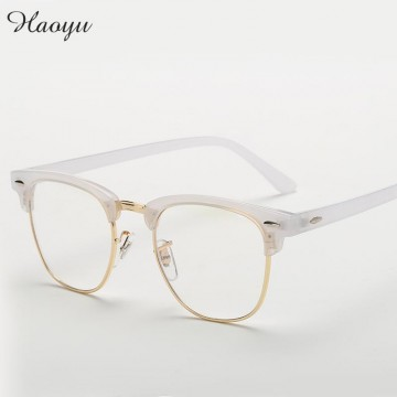 haoyu Men Women Myopia Eyeglasses Japan Vintage Eye half Glasses Frame Fashion Optical Frame Plain Mirror lens Armacao De Oculos32568163302